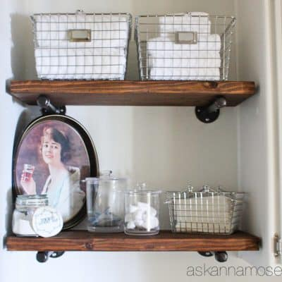 DIY Industrial Shelves Tutorial