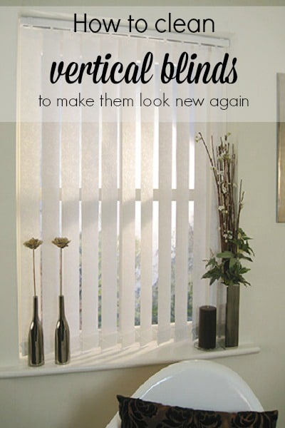 How to Clean Vertical Blinds with Bakerette