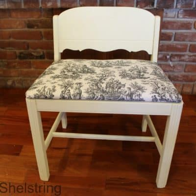 Tutorial – How to Reupholster a Chair Cushion