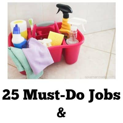 25+ must-do Spring Cleaning Tasks & Free Printables