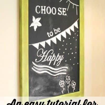 How to Create Chalkboard Art