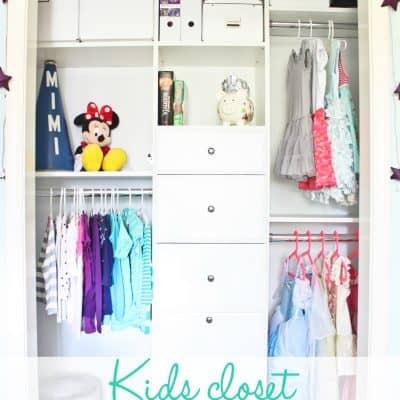 Kids Closet Organization {REVEAL!}