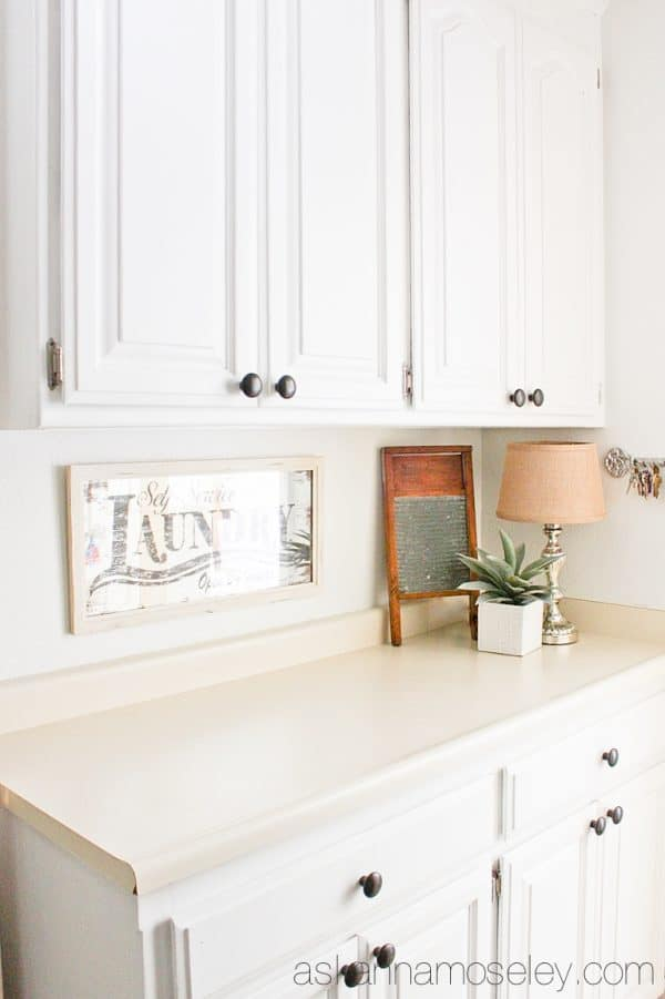 Neutral palette laundry room makeover - Ask Anna