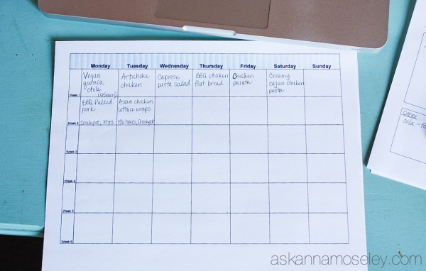 Meal planning 101 - Ask Anna