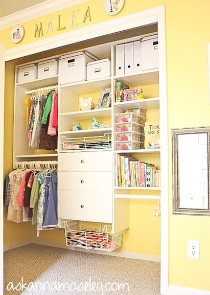 Organized kid's closet - Ask Anna