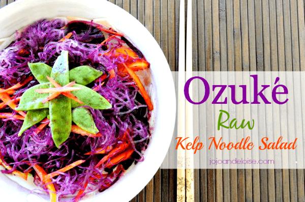 Ozuke #raw Kelp Noodle Salad jojoandeloise.com