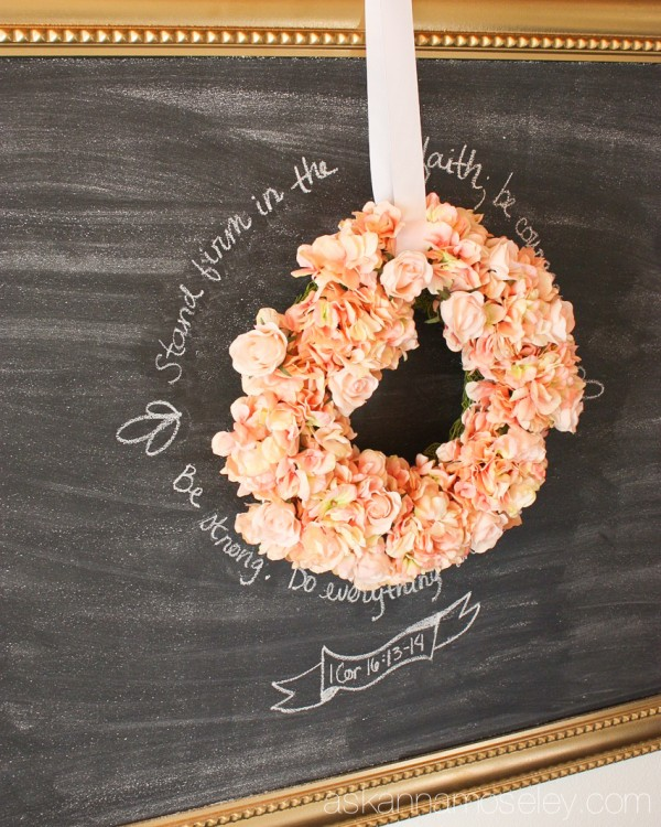 DIY extra large chalkboard - Ask Anna