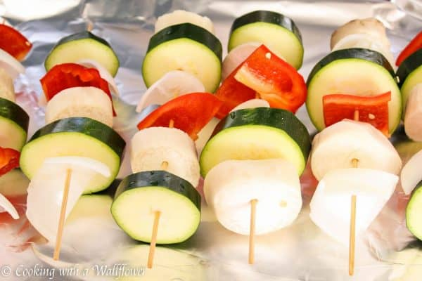Honey BBQ Vegetable Skewers - Cooking with a Wallflower