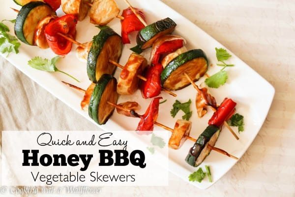 Quick and Easy Honey BBQ Vegetable Skewers