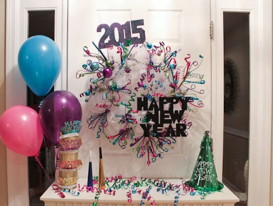 New years wreath tutorial