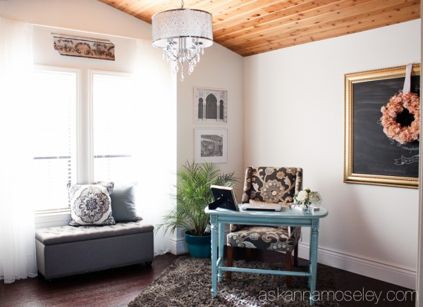 Office makeover, an inspirational space filled with lots of natural colors and light - Ask Anna