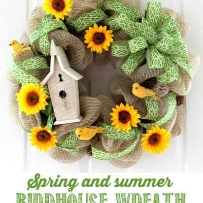 DIY Spring and Summer Birdhouse Wreath Tutorial