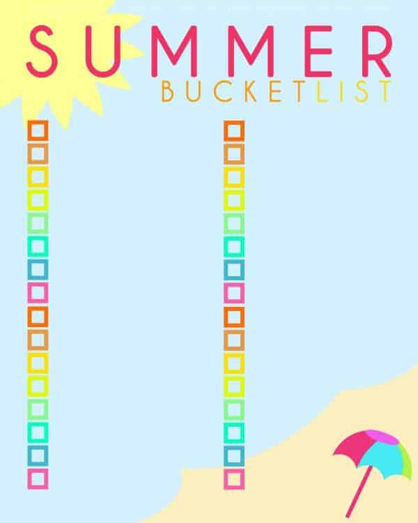 FREE printable summer bucket list - Ask Anna