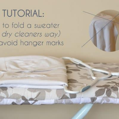 How to Fold and Hang a Sweater