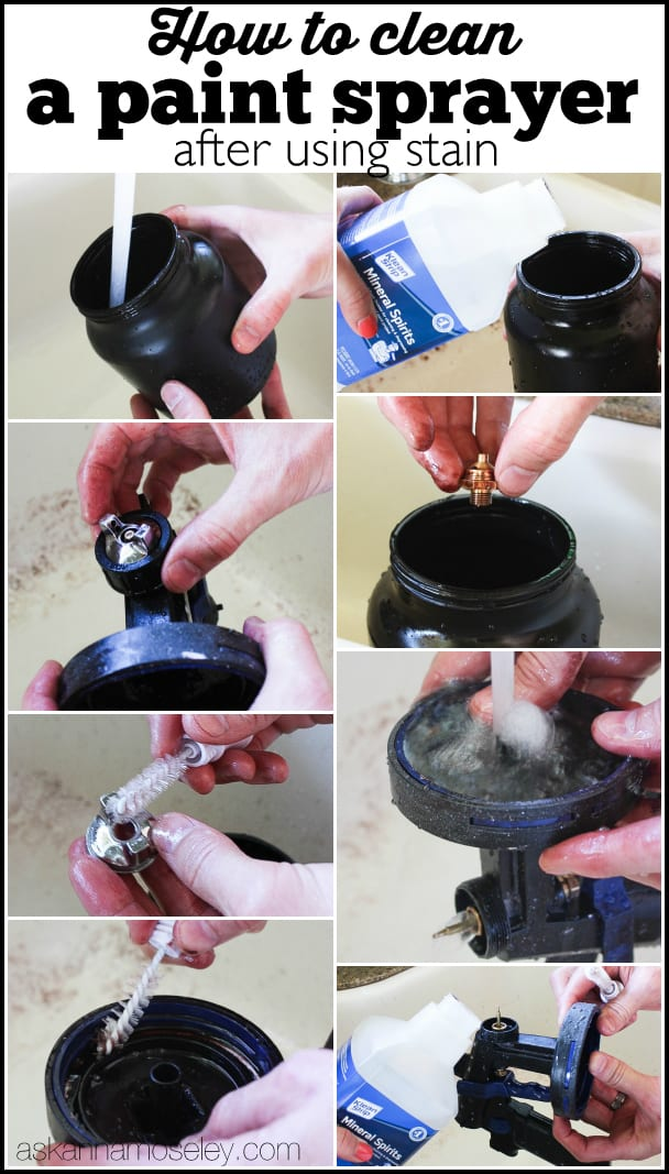 The easiest and fastest way to clean a paint sprayer after using stain - Ask Anna