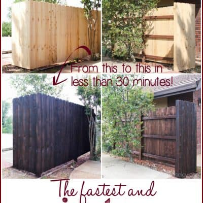 The Fastest and Easiest Way to Stain a Wood Fence