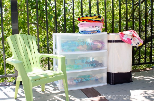 A simple and affordable way to organize pool toys - Ask Anna