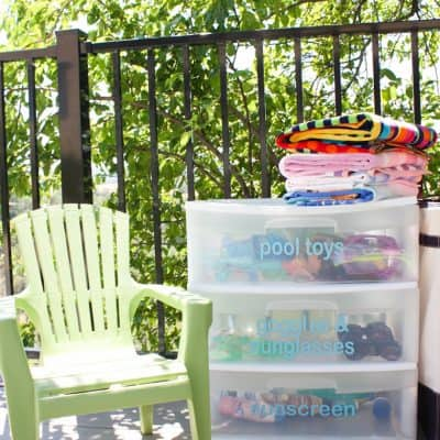 A Simple & Affordable Way to Organize Pool Toys
