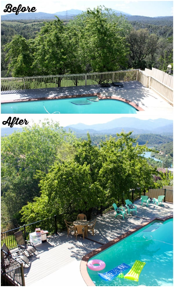 Before and after- backyard deck expansion - Ask Anna