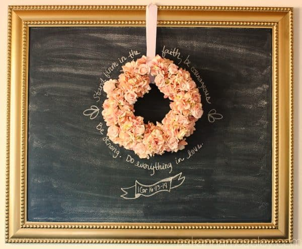 DIY large chalkboard - Ask Anna
