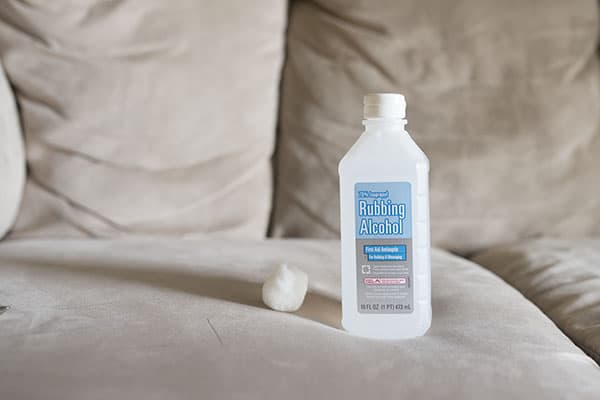 How to get ink out of a microfiber couch, a super simple solution that only takes seconds!   Ask Anna