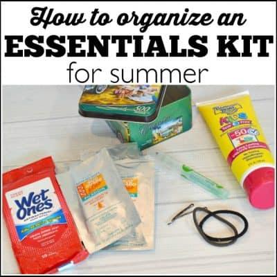 Organize a Summer Grab-n-Go Kit