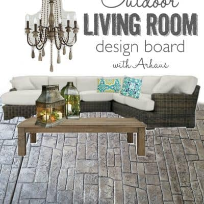 Outdoor Living Room Design Board