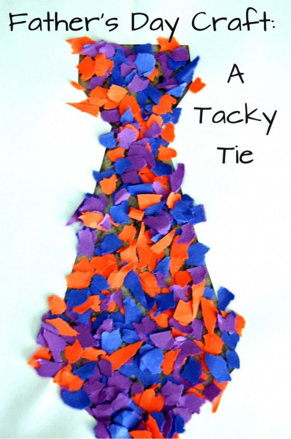 Tacky Tie for Fathers Day by Simple HOme Blessing
