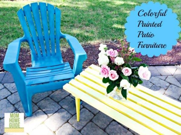 DIY colorful patio furniture