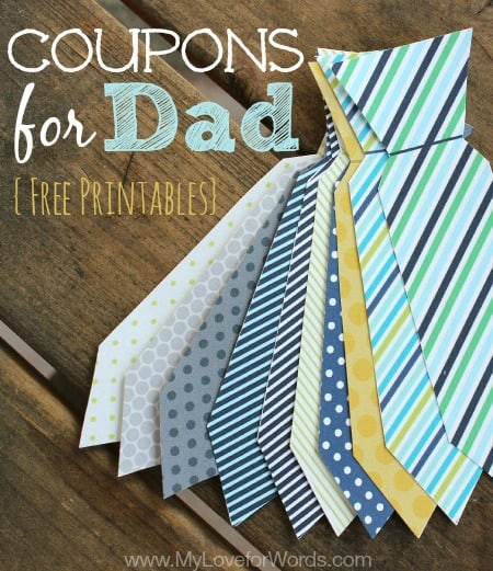 Printable Coupons for Dad by My Love for Words