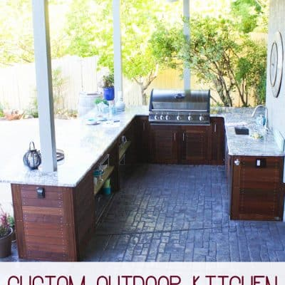 Outdoor Kitchen Reveal!!!