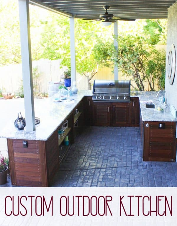 Outdoor Kitchen Reveal!!! - Ask Anna