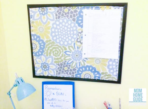DIY fabric covered bulletin boards - tutorial