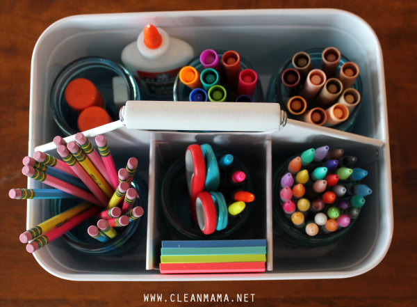 Homework caddy from Clean Mama