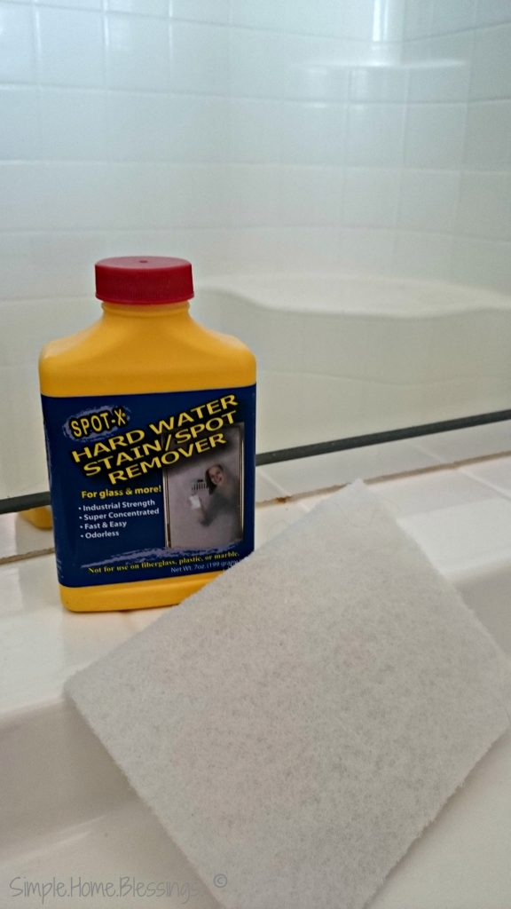 the best method for cleaning shower glass