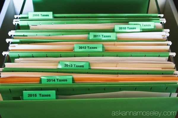 How to organize your taxes and keep them organized for 7 years - Ask Anna