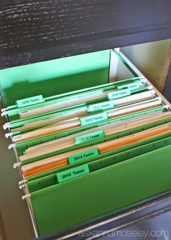 How to organize taxes and keep them organized for 7 years - Ask Anna