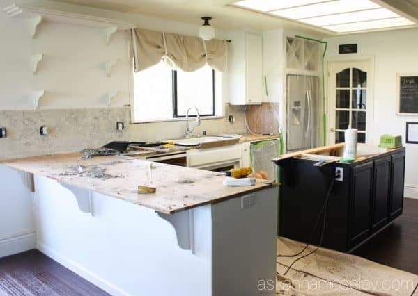 Kitchen Demo and New Marble Counters - Ask Anna