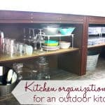 Outdoor kitchen organization tips and ideas - Ask Anna