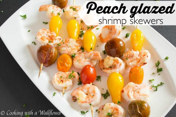 Peach Glazed Shrimp Skewers