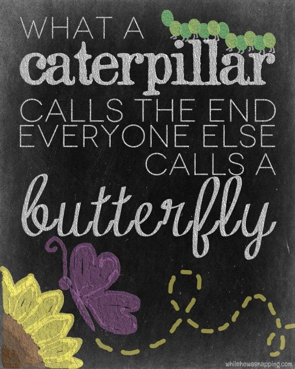"""...everyone else calls a butterfly"" FREE printable quote - Ask Anna"