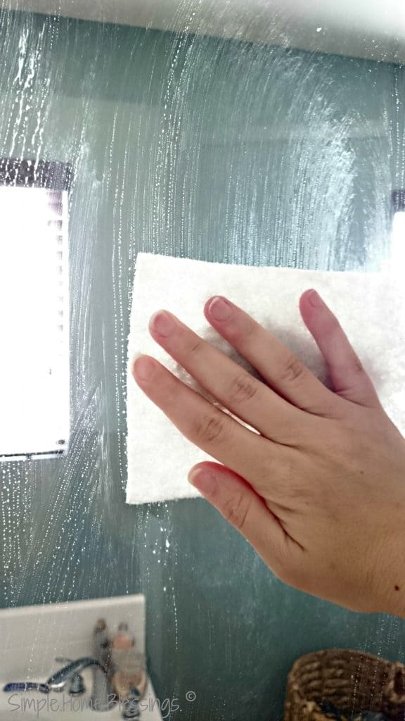 simple scrubber for shower glass