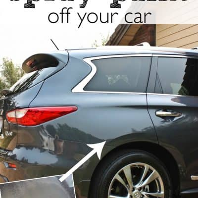 An Easy tip to get Spray Paint off a Car