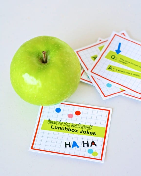 Free, printable lunchbox jokes for your kids from Paging Supermom
