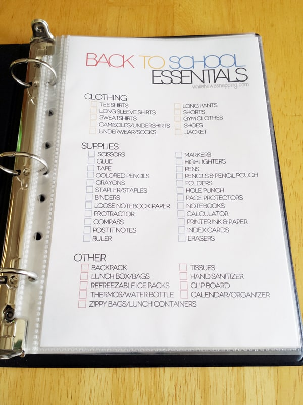 Back to school essentials list - Ask Anna
