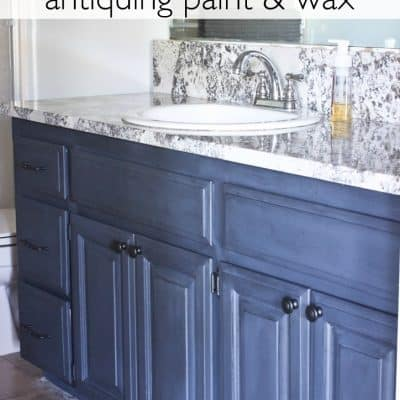 Painting Bathroom Cabinets with Chalkworthy