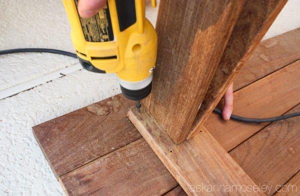 DIY sawhorse coffee table tutorial - Ask Anna