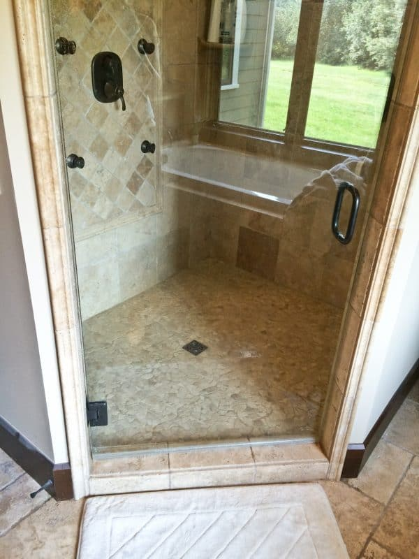 How to clean a shower the easy way - after