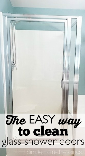 How to clean shower glass doors the EASY way