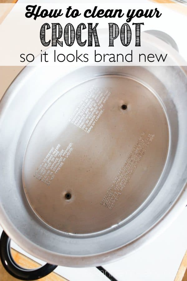 How to clean your crockpot so it looks brand new - Ask Anna